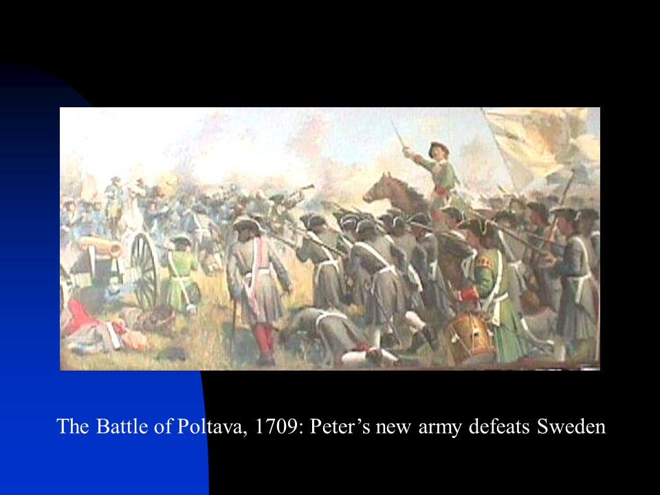 The Battle of Poltava, 1709: Peter's new army defeats Sweden