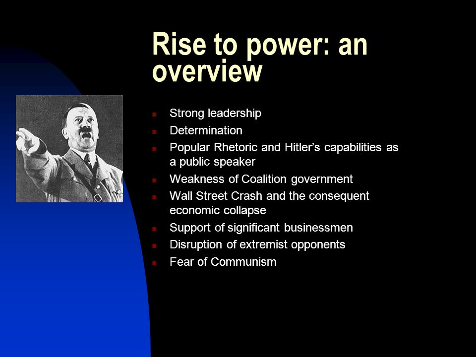 Rise to power: an overview