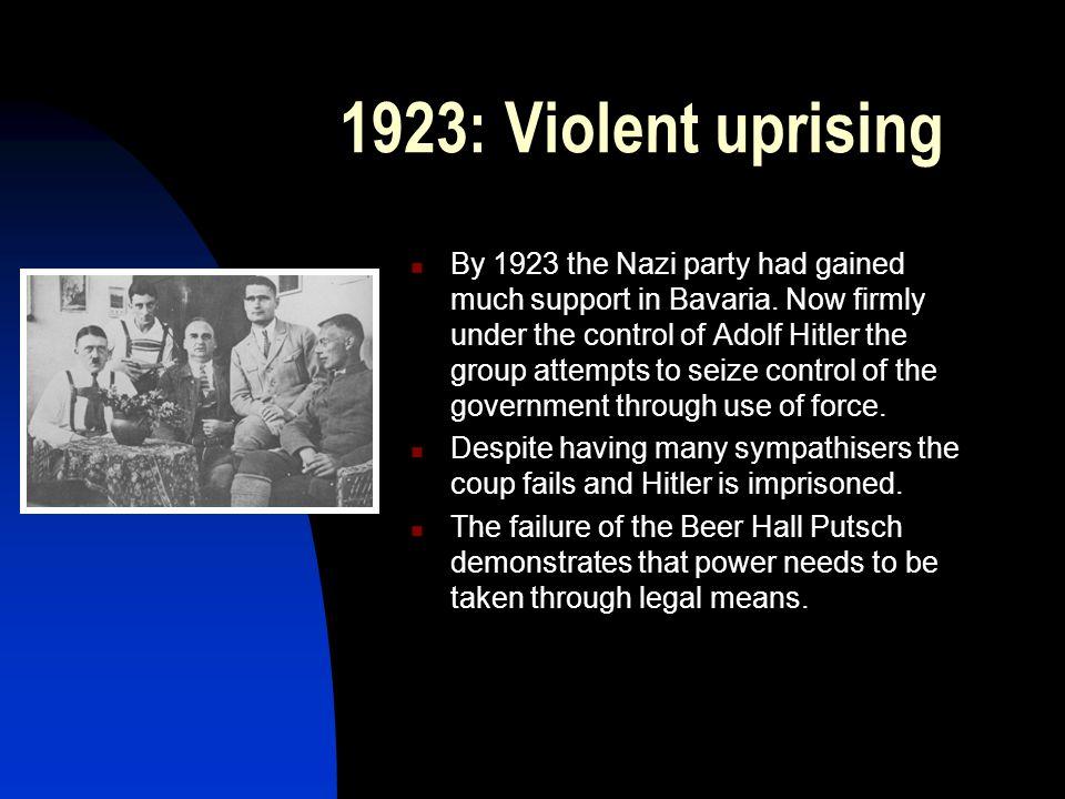 1923: Violent uprising