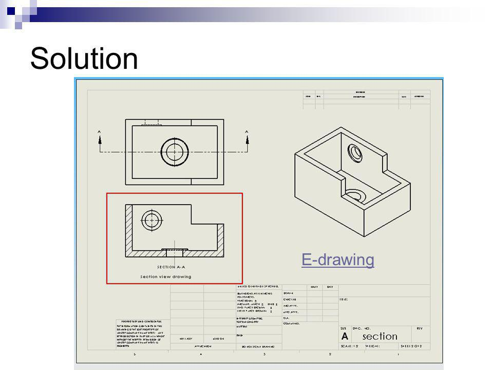 Solution E-drawing