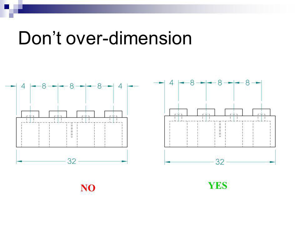 Don't over-dimension YES NO