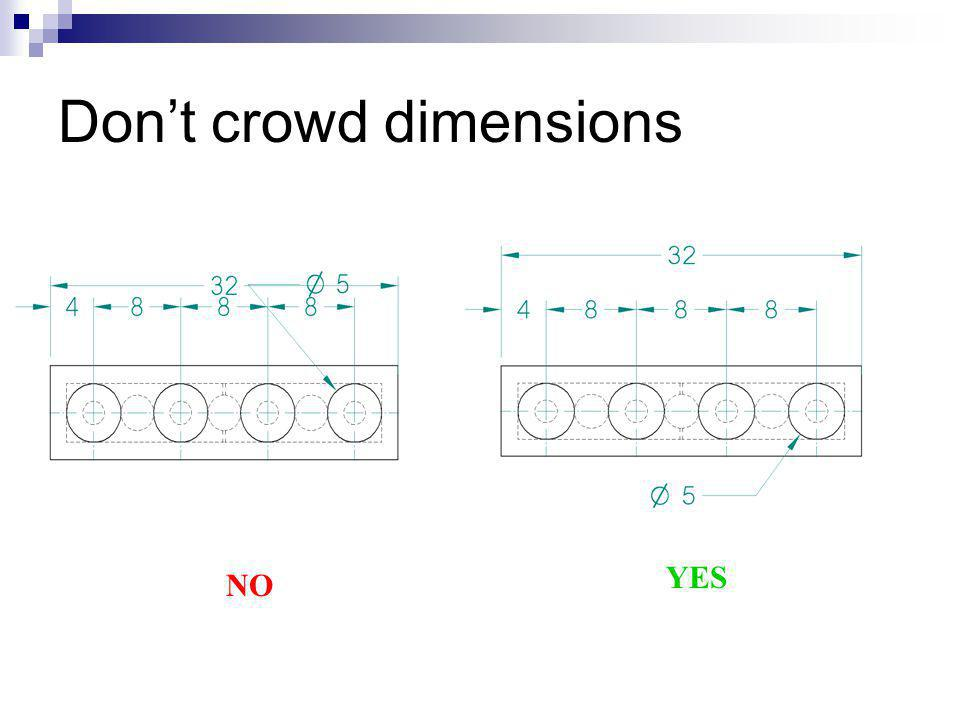 Don't crowd dimensions