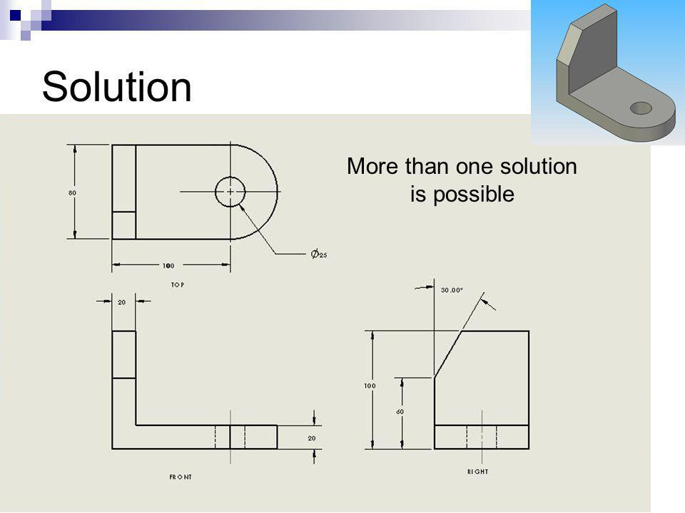 More than one solution is possible
