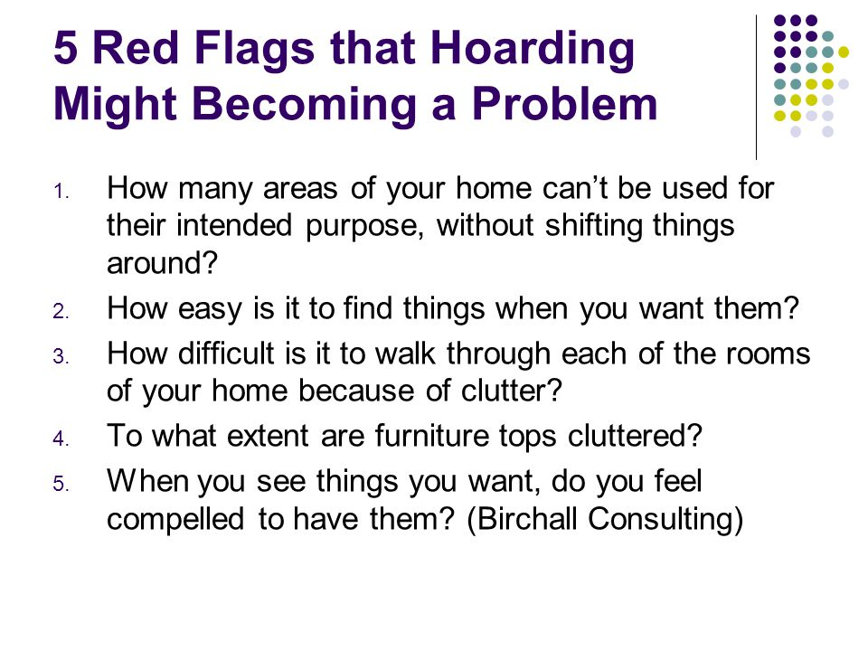 5 Red Flags that Hoarding Might Becoming a Problem