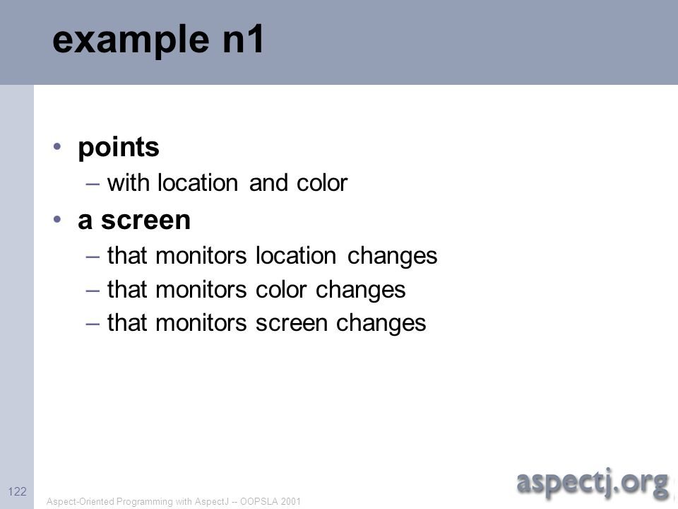 example n1 points a screen with location and color