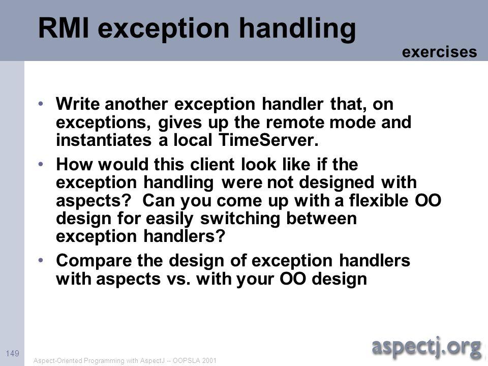 RMI exception handling