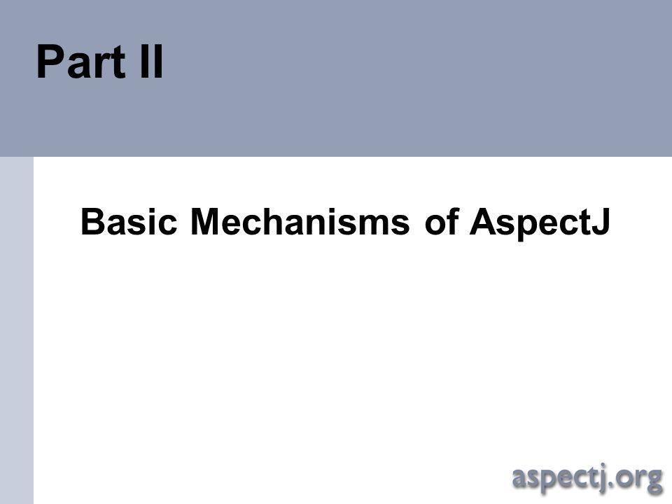 Basic Mechanisms of AspectJ