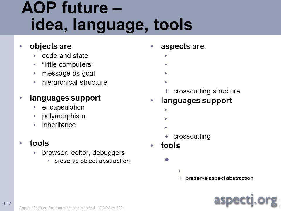 AOP future – idea, language, tools