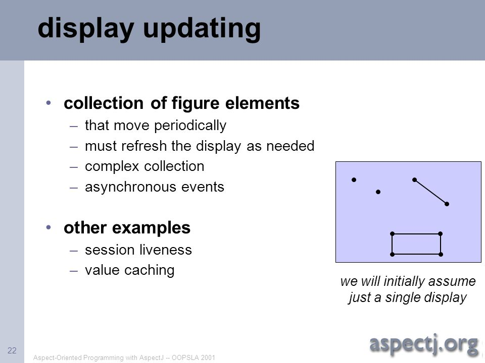 we will initially assume just a single display