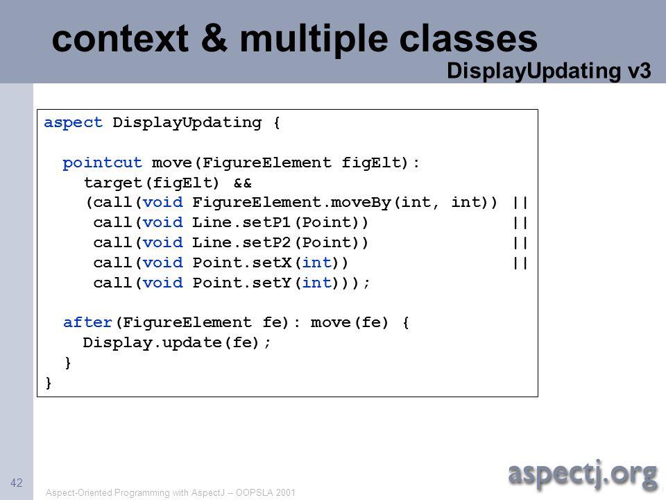 context & multiple classes