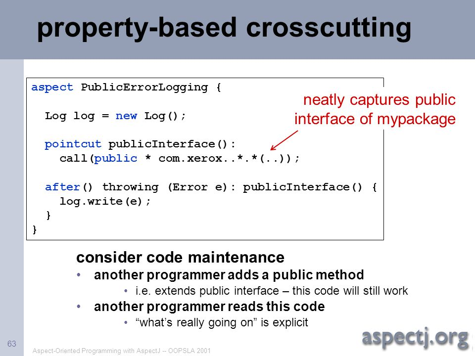 property-based crosscutting