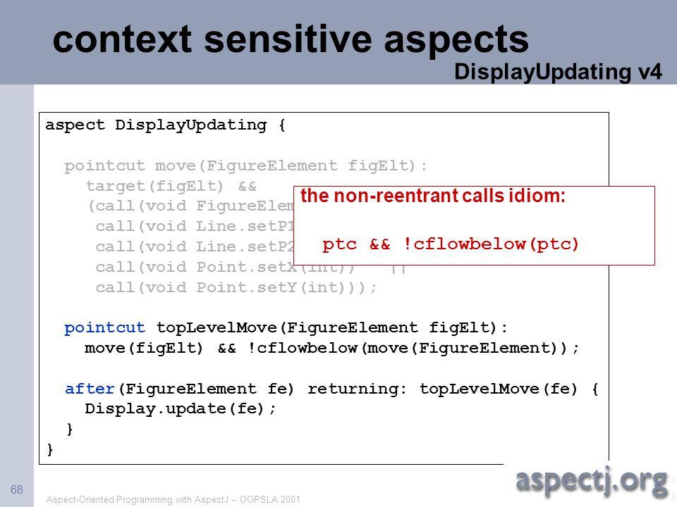 context sensitive aspects