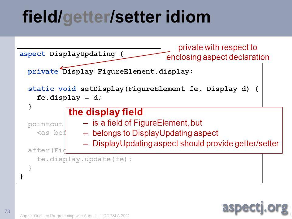 field/getter/setter idiom