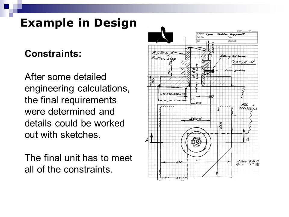 Example in Design Constraints: