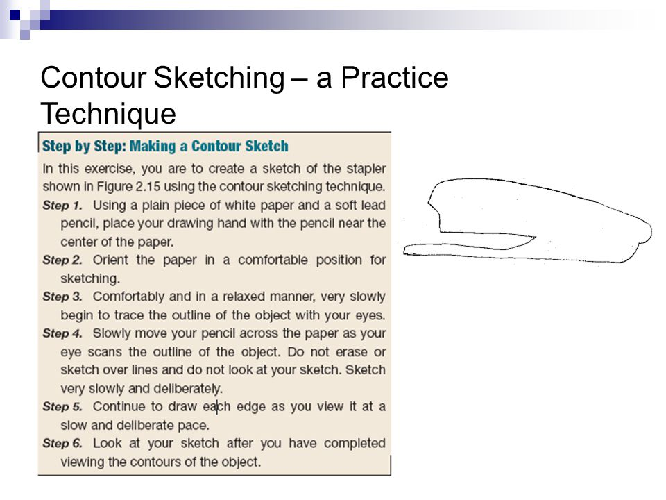 Contour Sketching – a Practice Technique