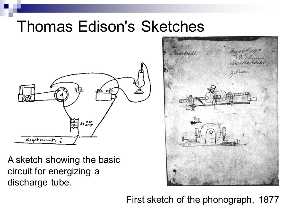 Thomas Edison s Sketches