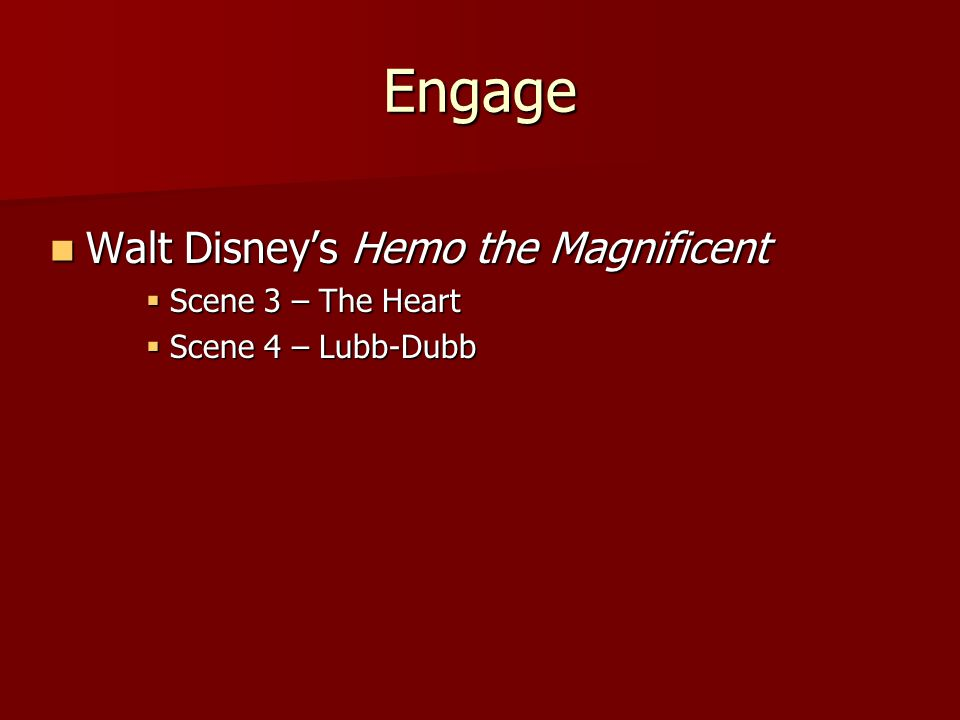 Engage Walt Disney's Hemo the Magnificent Scene 3 – The Heart