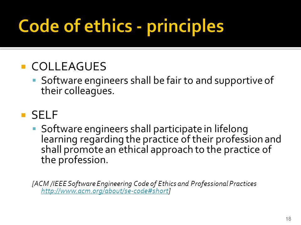 Code of ethics - principles
