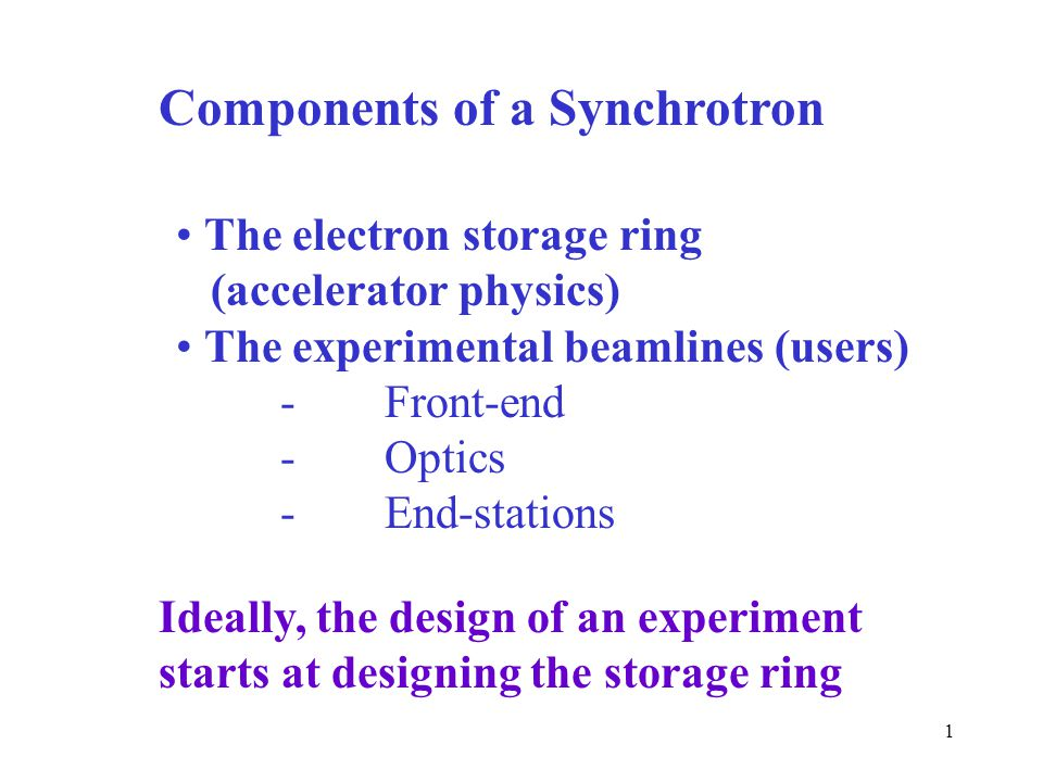 Components of a Synchrotron