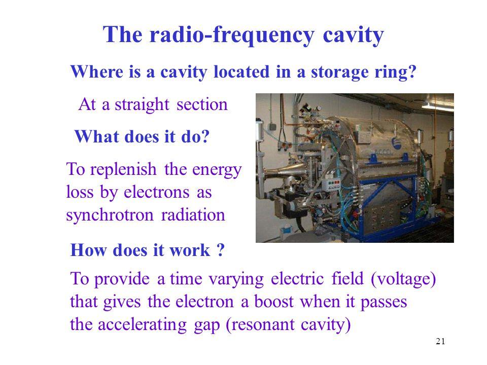 The radio-frequency cavity