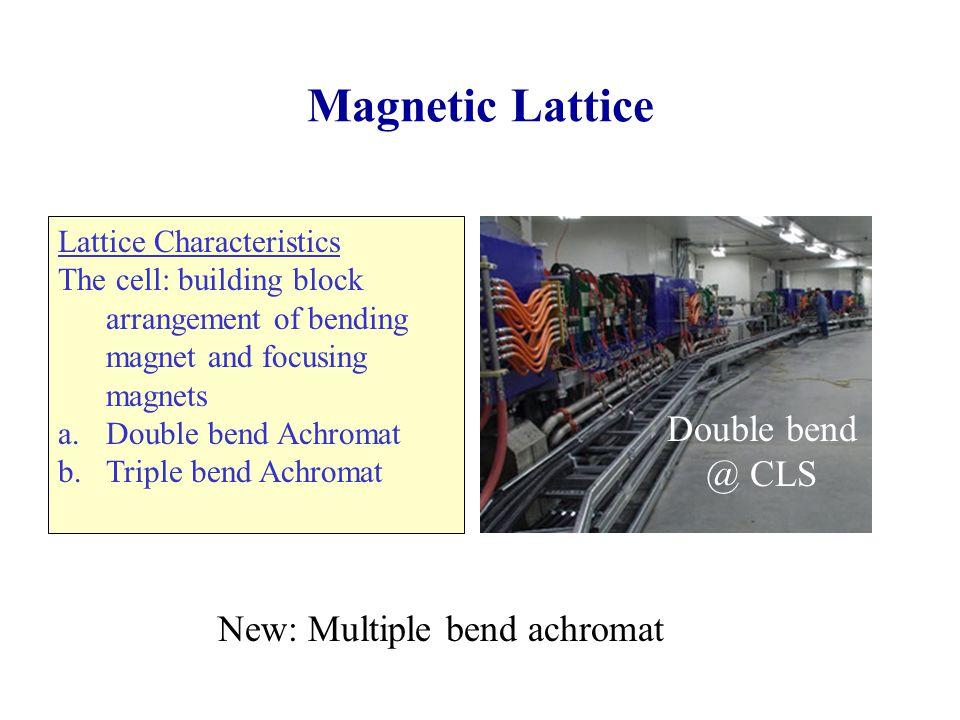 Magnetic Lattice Double bend @ CLS New: Multiple bend achromat