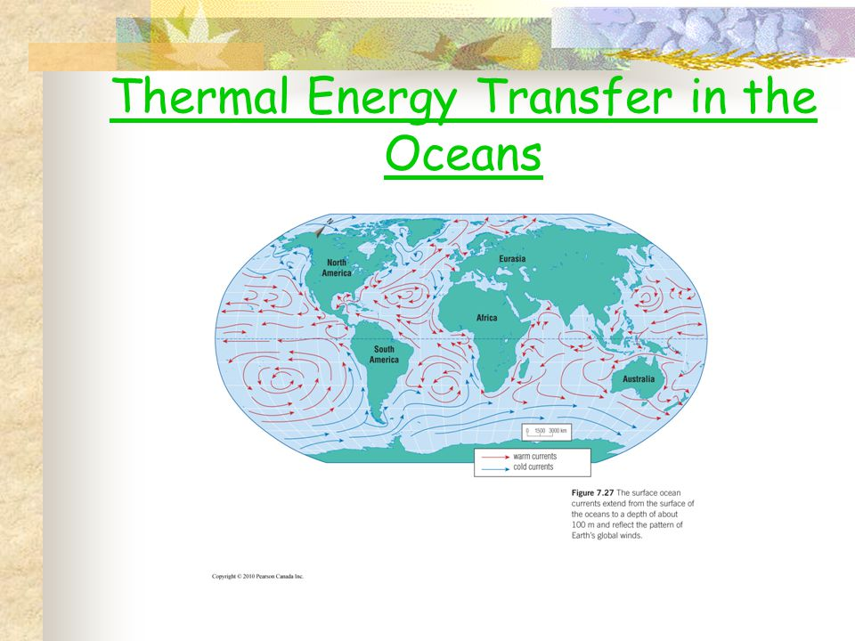 Thermal Energy Transfer in the Oceans