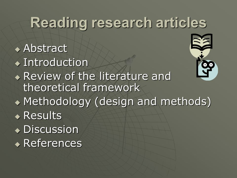 Reading research articles