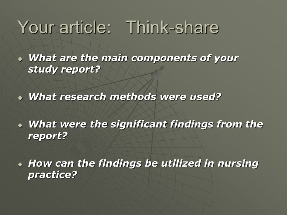 Your article: Think-share