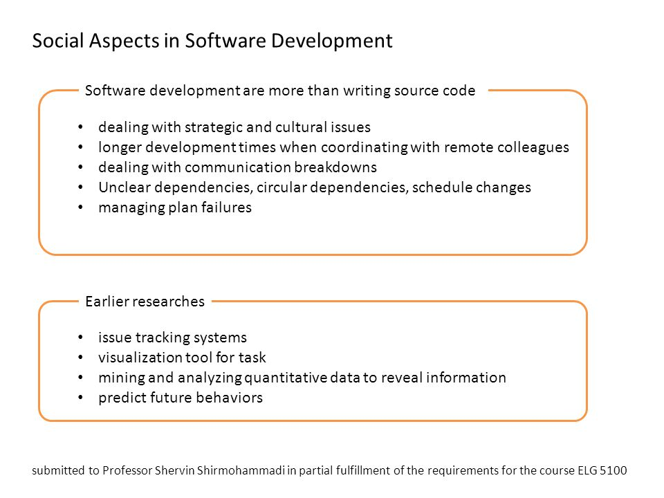 Social Aspects in Software Development