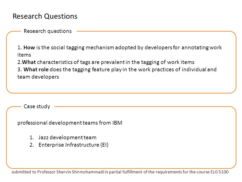 Research Questions Research questions