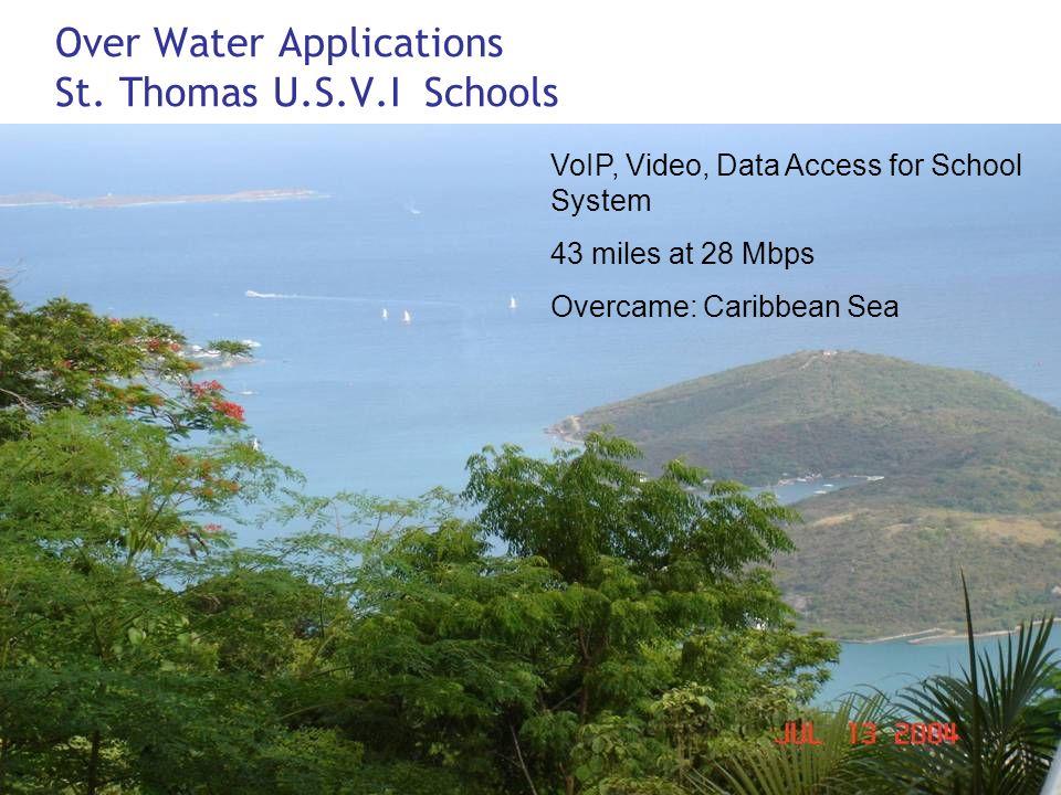 Over Water Applications St. Thomas U.S.V.I Schools
