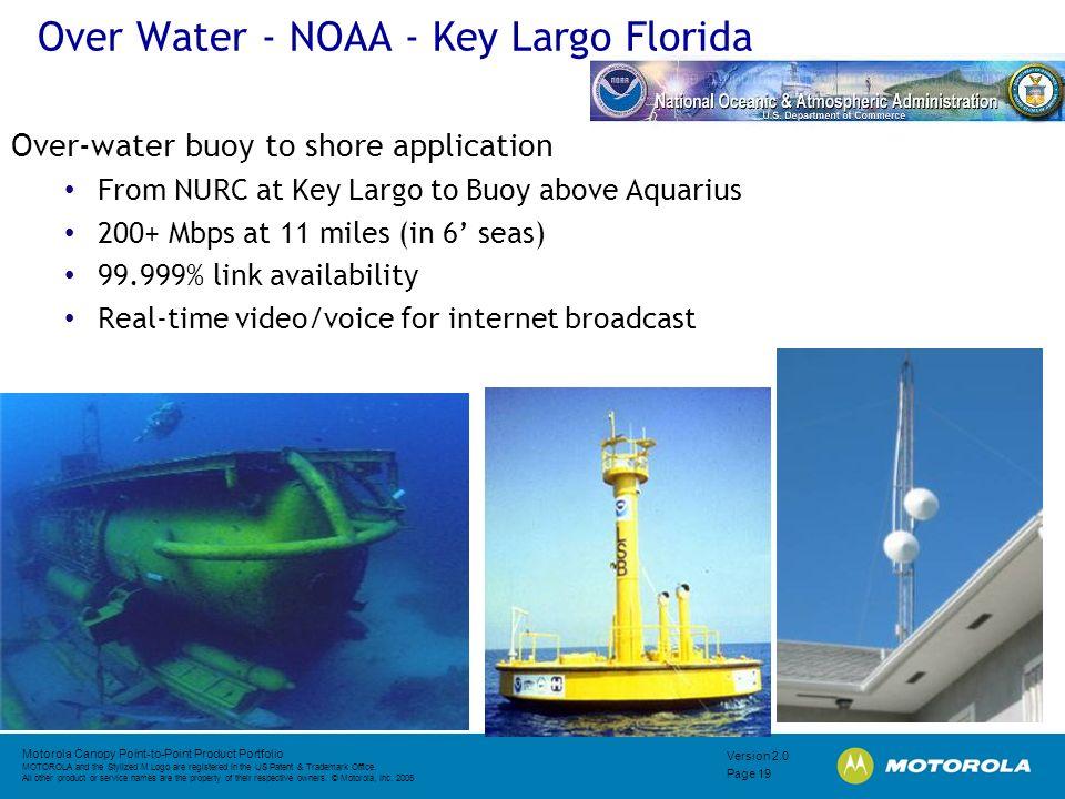 Over Water - NOAA - Key Largo Florida