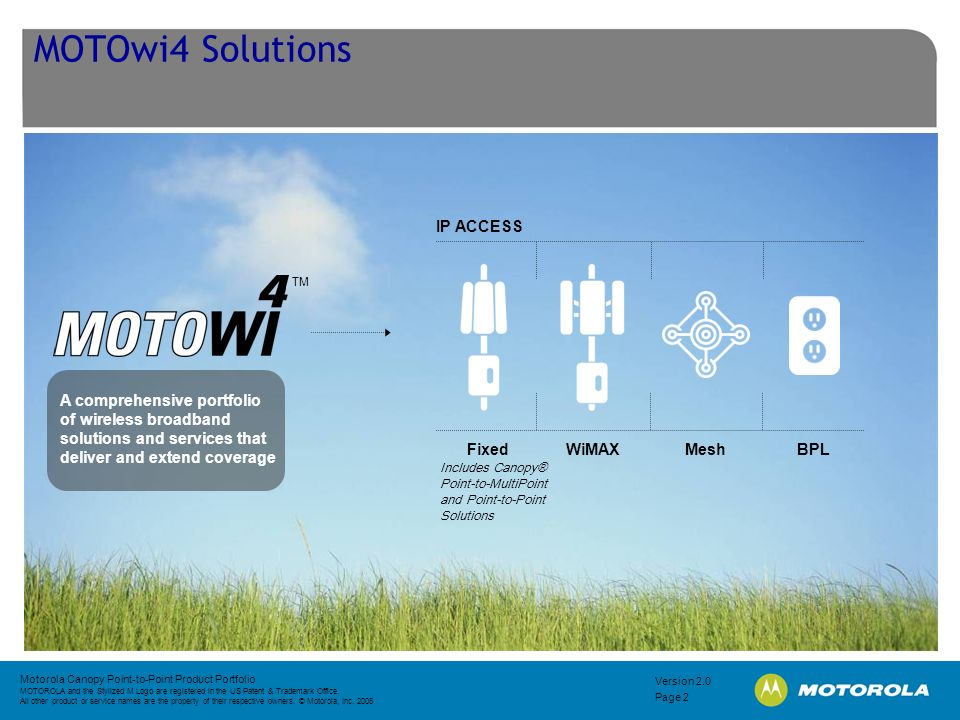MOTOwi4 Solutions IP ACCESS