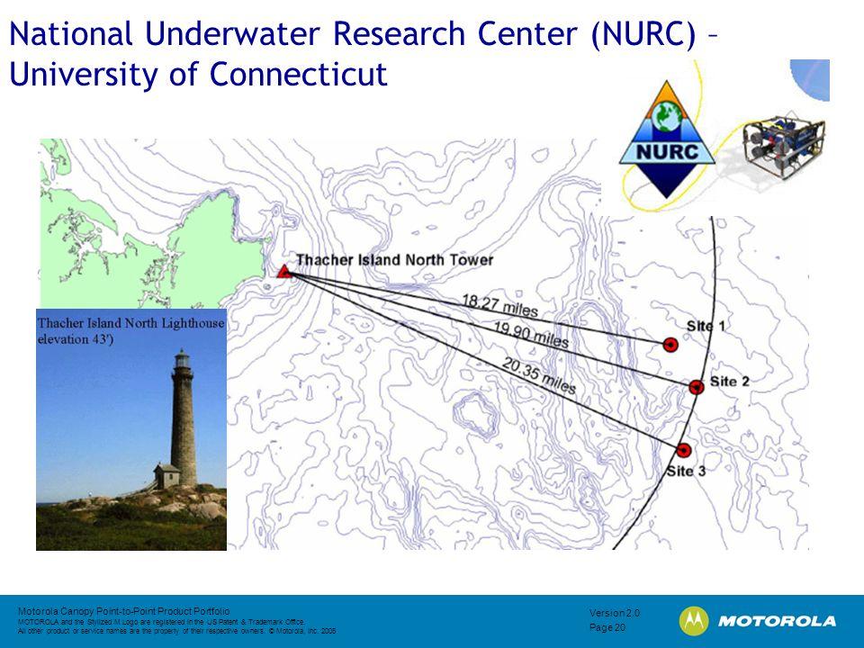 National Underwater Research Center (NURC) – University of Connecticut