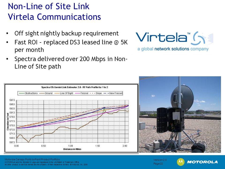 Non-Line of Site Link Virtela Communications