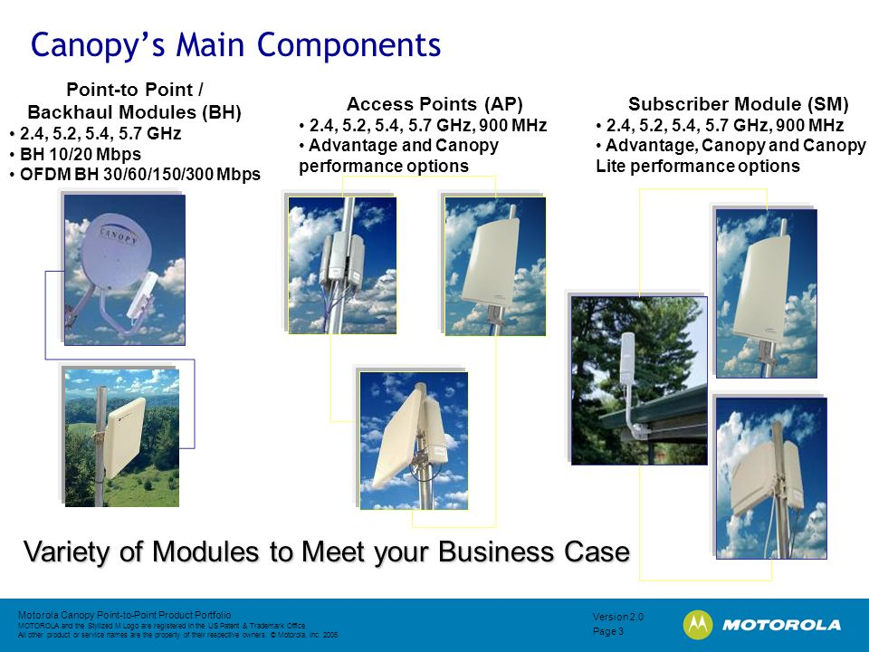 Canopy's Main Components