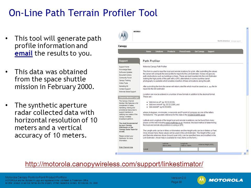 On-Line Path Terrain Profiler Tool