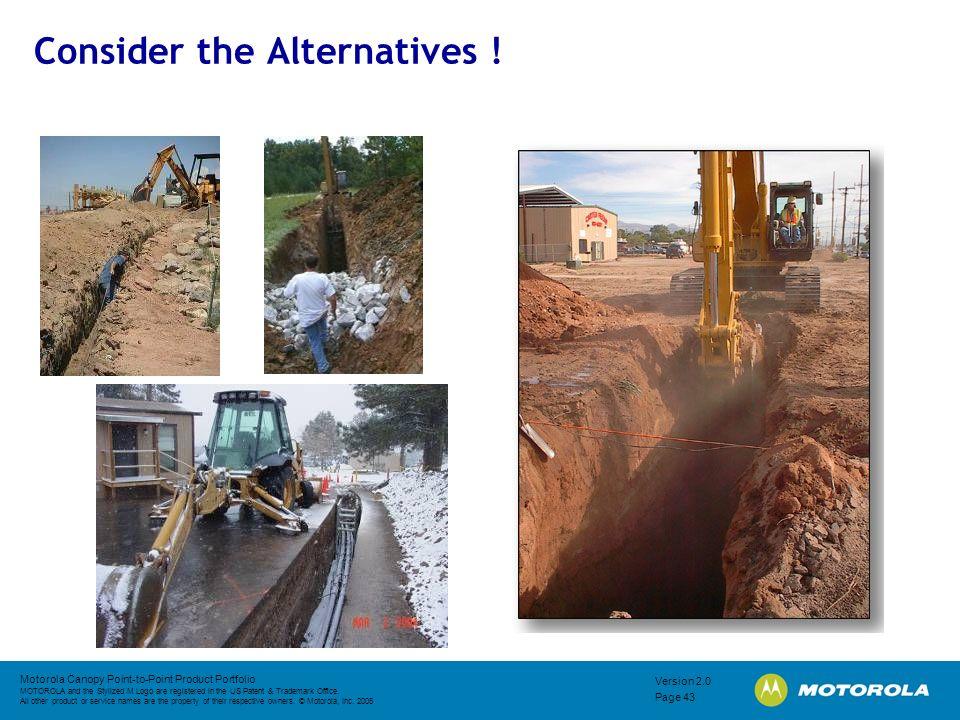Consider the Alternatives !