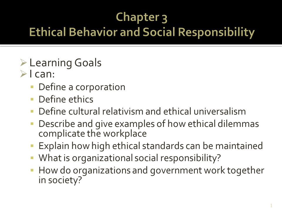 Ethical and socially responsible