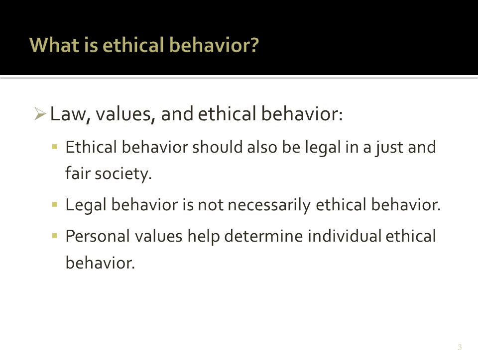 chapter 3 ethical behavior and social responsibility ppt