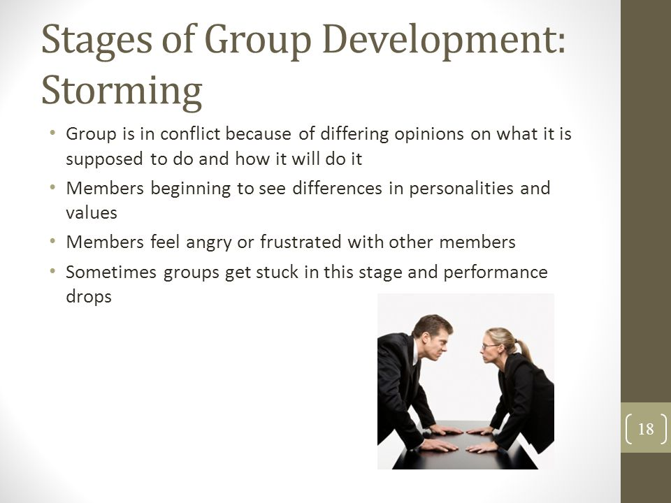 Stages of Group Development: Storming