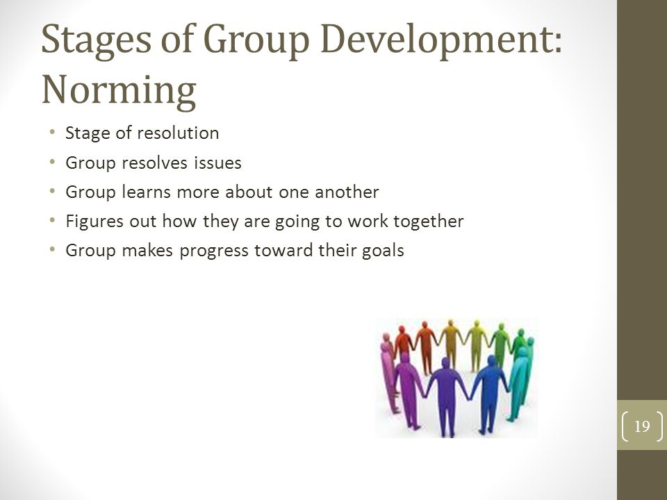 Stages of Group Development: Norming