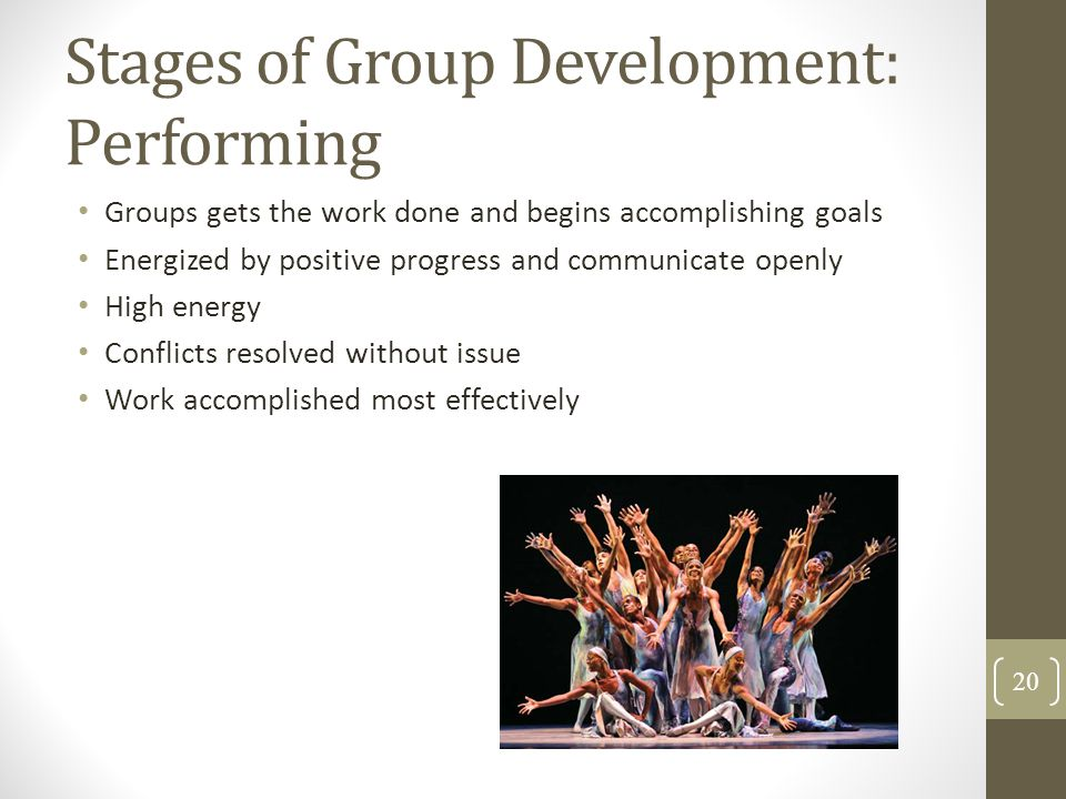 Stages of Group Development: Performing