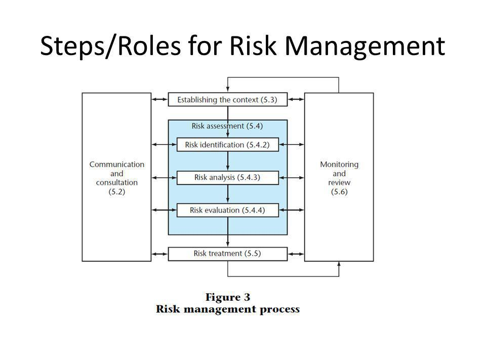 Steps/Roles for Risk Management