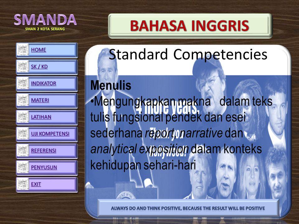 Standard Competencies