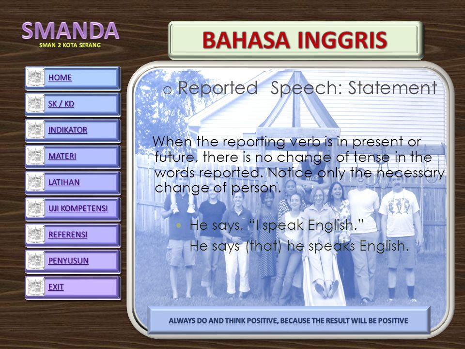 Reported Speech: Statement