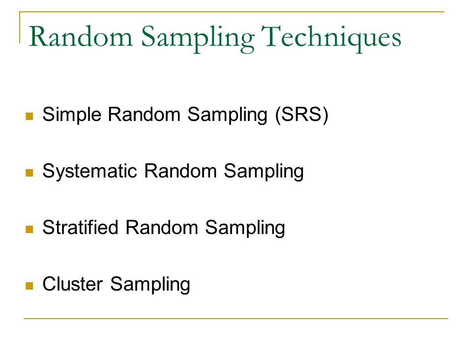 Random Sampling Techniques