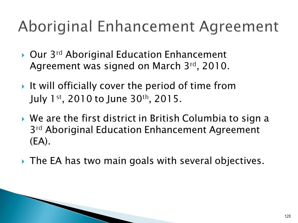 Aboriginal Enhancement Agreement