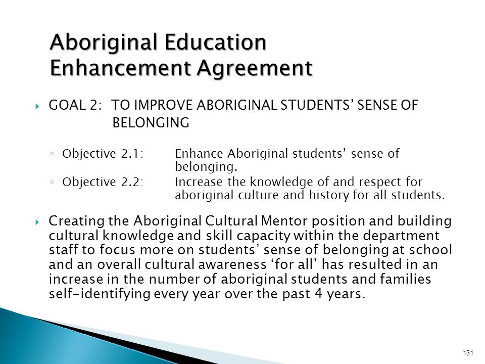 Aboriginal Education Enhancement Agreement