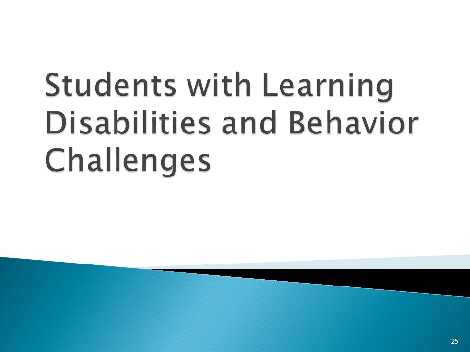 Students with Learning Disabilities and Behavior Challenges